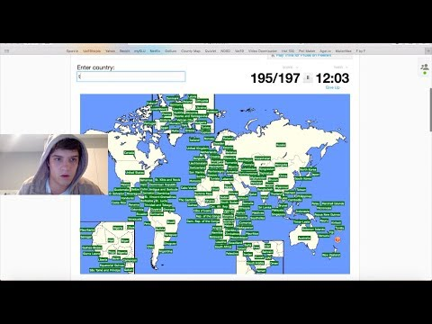 Me typing every country in the world in under 3 minutes on sporcle
