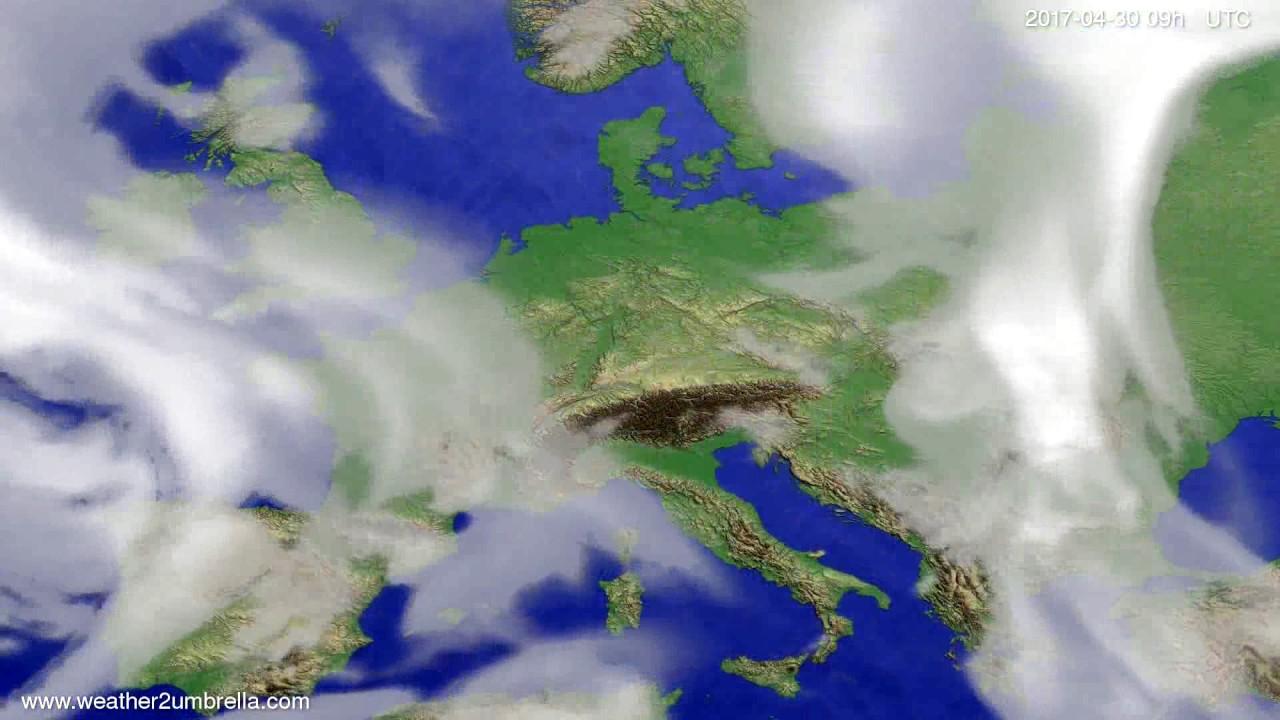 Cloud forecast Europe 2017-04-26