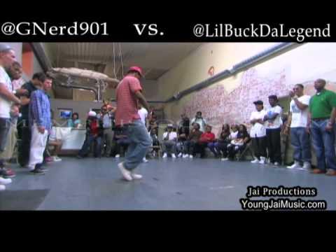 lilbuck - G-Nerd vs Lil Buck, Memphis Jookin Battle Sept 2011 @ The Moxie. @GNERD901 @LILBUCKDALEGEND @AONTHETRACK @YOUNGJAI.