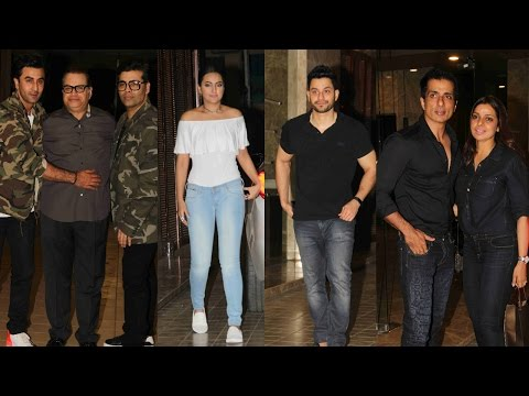 Karan Johar | Ranbir Kapoor | Sonakshi Sinha & Other Spotted At Ramesh Taurani's Party