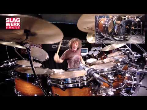 Simon Phillips - drumsolo - Clinic Tour Netherlands April May 2014 -
