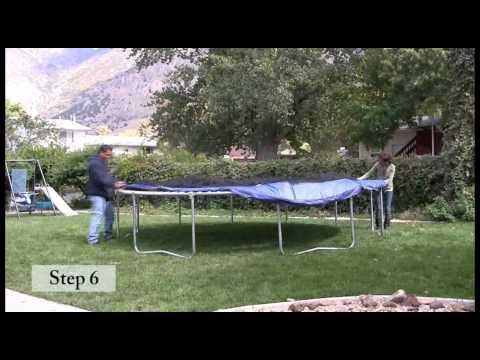 Skywalker Trampolines 15 ft. Round Trampoline Assembly Video