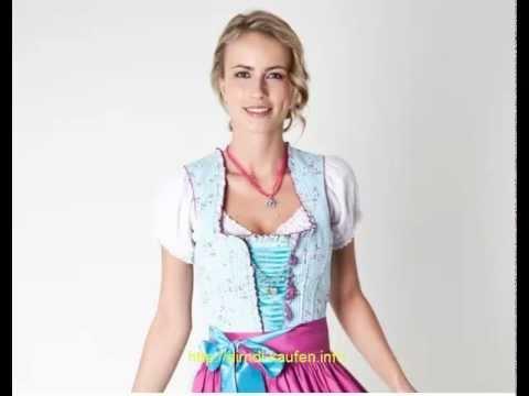 ♥ Trachten Dirndl, blau pink, Dirndlkleid, Trachtenkleid, Trachtenmode für Damen