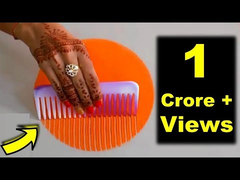 Video Colourful Rangoli Designs for Diwali | कंघी से बनाये Rangoli Easy and Attractive Design using Comb download in MP3, 3GP, MP4, WEBM, AVI, FLV January 2017