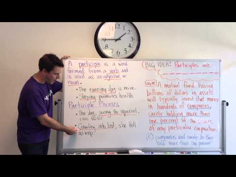 GMAT Tuesdays with Kevin: Intro to Participles