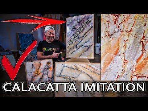 Такую Венецианку Вы Ещё Не Видели -Calacatta Viola Imitation Creama Bianco Stucco Veneziano Wowcolor (видео)