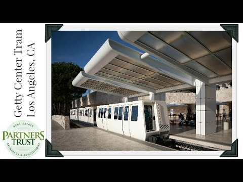 getty center exhibitions - http://www.ThePartnersTrust.com ~ Partners Trust's Dane Findley talks about the Getty Center Tram that brings tourists up into the mountains above Los Angele...