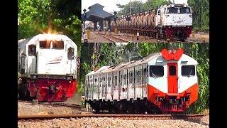 Kereta Api Angkutan BBM, KRD Supor, dan Sri Tanjung di Stasiun Wonokromo Surabaya