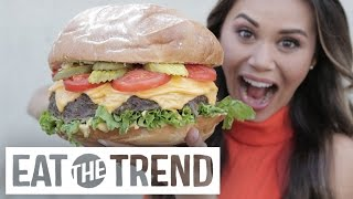 How to Make a GIANT Burger   Eat the Trend by POPSUGAR Food