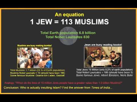 Jew - Let's try to understand Hifazat-e-Islam terrorism & Boston Bombing through an equation: 1 JEW = 113 MUSLIMS Question: Who is actually Insulting Islam? Analog...