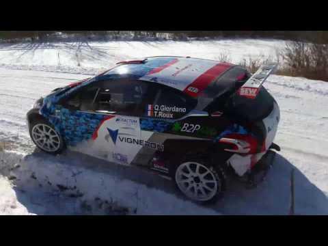 Test Quentin Giordano Rallye Monte-Carlo 2017 (SNOW)