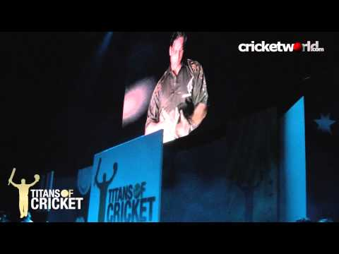 titans of cricket - Players, captains and presenters talk about the Titans of Cricket event in London, held at the O2 arena, in between action shots from the evening and shots o...