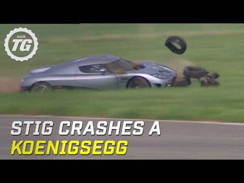 Stig Crashes Koenigsegg CCX (HQ)   Top Gear   Series 8   BBC
