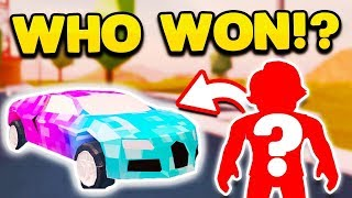 Congratulations to the winner of the Roblox Jailbreak free Bugatti giveaway!! I'll be contacting you via e-mail and setting up a day for me to give you your free Bugatti! GIVING AWAY A FREE BUGATTI!! ✅ (Roblox Jailbreak Bugatti Giveaway)👕 KREEKCRAFT SHIRTS NOW AVAILABLE!! ➜ http://bit.ly/KreekStore❤️ SUBSCRIBE HERE! ❤️ ➜ http://bit.ly/KreekSub🔔 Don't forget to turn on notifications by clicking the bell! 🔔We LIVESTREAM every day at 10 AM EST and 9:30 PM EST (except Monday nights)! Join us on YouTube Gaming! ❤️➜ http://bit.ly/KreekYTGSub👕 OFFICIAL KreekCraft Roblox Hoodie ➜ http://bit.ly/KreekHoodie👖 OFFICIAL KreekCraft Roblox Pants ➜ http://bit.ly/KreekPants👨👩👧👦 Join my OFFICIAL Roblox Group!!➜ http://bit.ly/KreekGroup💙 SOCIAL MEDIA 💙Twitter ➜ http://bit.ly/KreekTweetInstagram ➜ http://bit.ly/KreekGramSnapchat ➜ http://bit.ly/KreekSnapFacebook ➜ http://bit.ly/KreekBookMusical.ly ➜ KreekCraft😍 BECOME A SPONSOR! 😍➜ http://bit.ly/KreekSponsor💜 OFFICIAL DISCORD PARTNER 💜Join our FREE Discord Server and talk to me and other members of the community! ➜ https://discord.gg/wbgRRJQ📬 SEND FANMAIL HERE! 📬KreekCraftP.O. BOX 780Macclenny, FL 32063Production Music courtesy of Epidemic Sound!➜ http://www.epidemicsound.comMusic Provided By Monstercat!➜ https://www.monstercat.com/Looking for a YouTube Partnership? Join Curse!➜ http://bit.ly/UFGApplyWhat is ROBLOX? ROBLOX is an online virtual playground and workshop, where kids of all ages can safely interact, create, have fun, and learn. It's unique in that practically everything on ROBLOX is designed and constructed by members of the community. ROBLOX is designed for 8 to 18 year olds, but it is open to people of all ages. Each player starts by choosing an avatar and giving it an identity. They can then explore ROBLOX — interacting with others by chatting, playing games, or collaborating on creative projects. Each player is also given their own piece of undeveloped real estate along with a virtual toolbox with which to design and bu