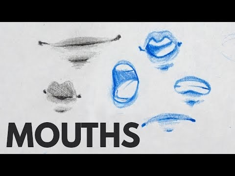How To Draw Mouths & Lips - Tutorial