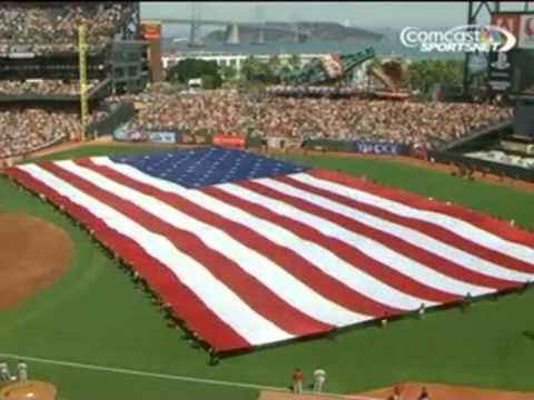 Sebu of Capital Cities Performs National Anthem at Giants Game