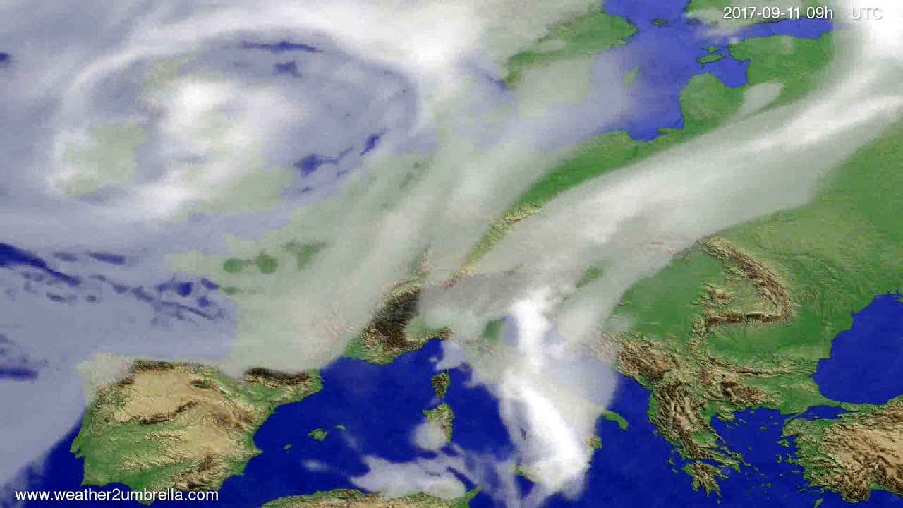 Cloud forecast Europe 2017-09-07