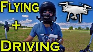 Flying a Drone and Driving Motorcycle at the same time [ Tutorial ]