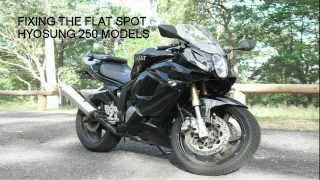 9. How to Fix The Flat Spot Hyosung GT250, GT250R and GV250