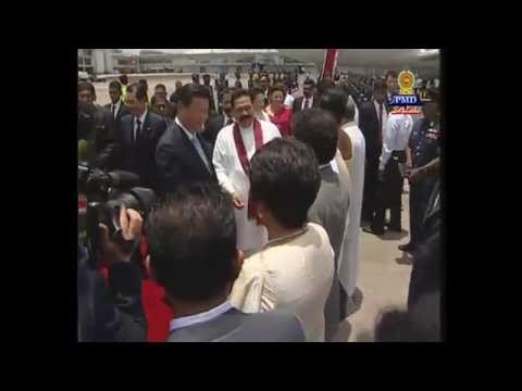 president - Welcome ceremony of Chinese President Xi Jinping and First Lady Peng Liyuan at the Bandaranaike International Airport (BIA) today (Sept. 16) by President Mahinda Rajapaksa and First Lady Shiranthi...
