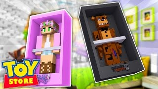 Minecraft TOYSTORE : FREDDY FAZBEAR DOLL KIDNAPS BARBIE! w/LittleKelly,Carly & TinyTurtle (Roleplay)