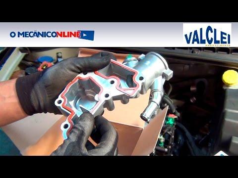 Substituição da carcaça e válvula termostática Citroën C3