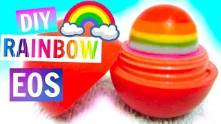 Rainbow EOS | DIY EOS Lip Balm - YouTube