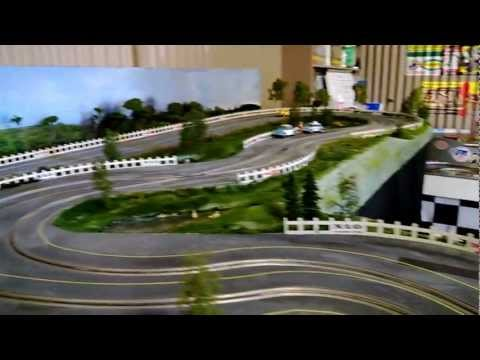 1/32 Wooden Routed Slot Car Track – 1960's theme – Scalextric C76 Mini Test Drive