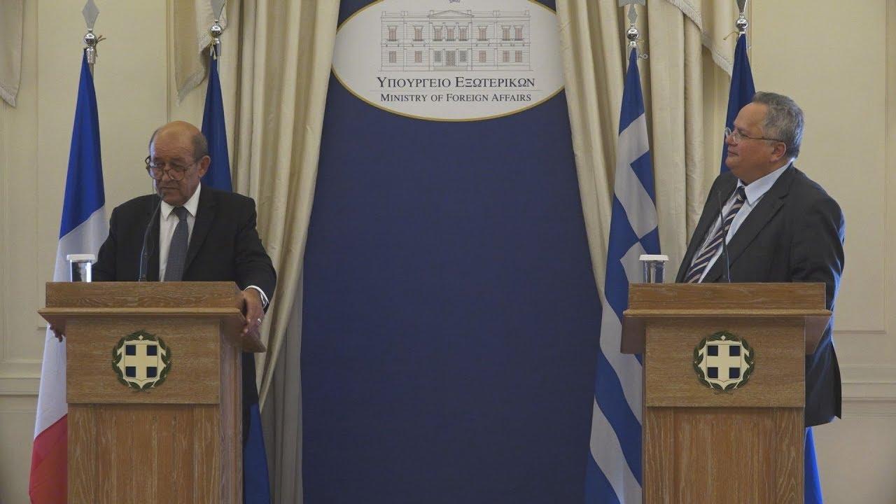 Δηλώσεις των ΥΠΕΞ Ελλάδας και Γαλλίας