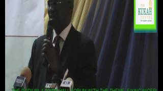THE PODIUM: A Kukah Centre Twon Hall Forum FT Mr. Babatude Fashola