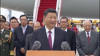 Chinese President Xi Jinping said in Hong Kong Thursday that the central government will as always provide a powerful backing to the Hong Kong Special ...