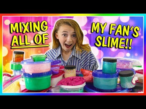 MIXING ALL OF MY FAN'S SLIME! We Are The Davises