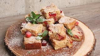 Cranberry White Chocolate Blondies | Episode 1120 by Laura in the Kitchen