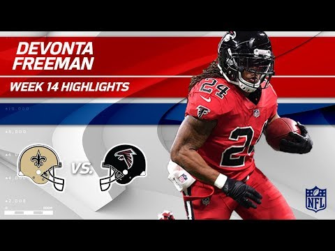 Video: Devonta Freeman's Big Game vs. New Orleans | Saints vs. Falcons | Wk 14 Player Highlights
