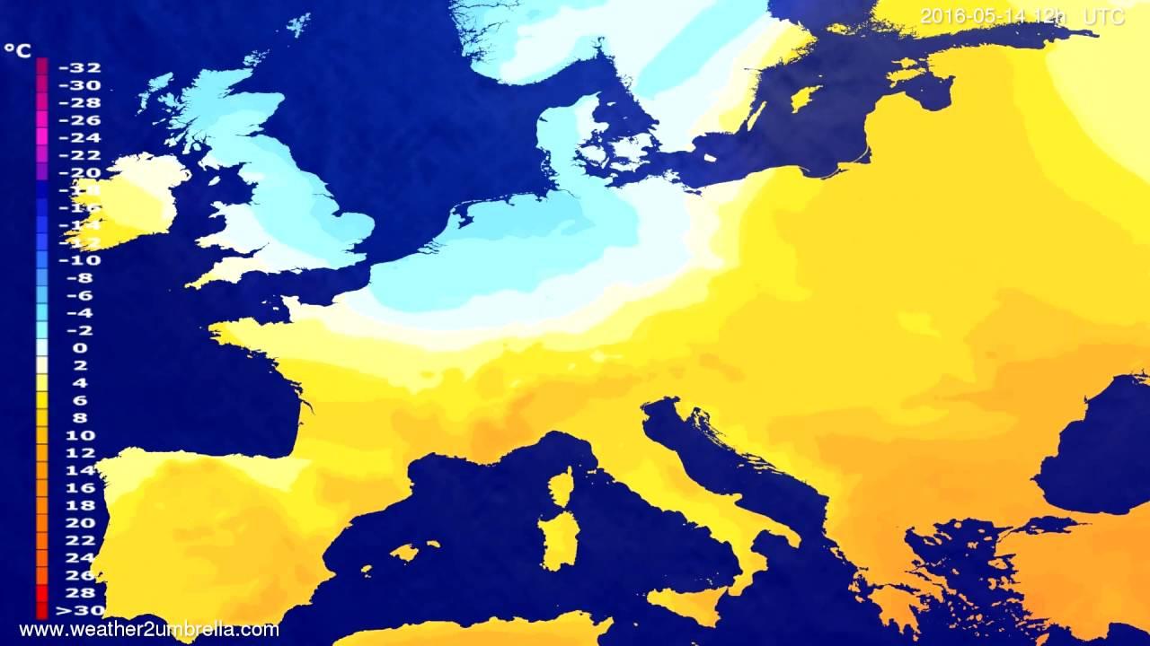 Temperature forecast Europe 2016-05-10