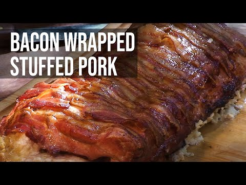 Corn Bread Stuffed Pork Roast Tenderloin Glazed with Brown Sugar Recipe – BBQ Pit Boys