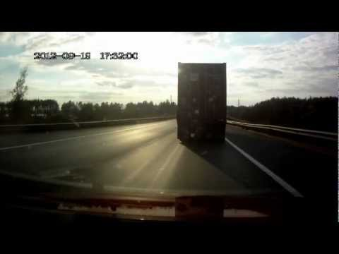 Russia - Dashcam - Following A Semi Truck (Wait for it)