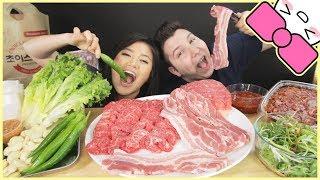KOREAN BBQ GRILL ft. NIKOCADO AVOCADO l MUKBANG
