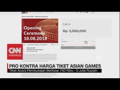 Pro-Kontra Harga Tiket Asian Games 2018