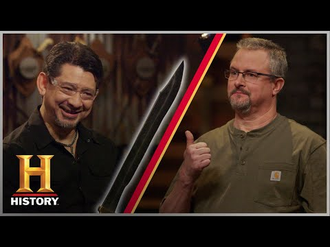 Forged in Fire: Beat the Judges: SAW BLADE SWORD CHALLENGE (Season 1) | History