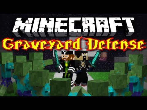 CavemanFilms - Today starts the first half of this awesome minigame: Graveyard Defense! Ant and I fight off waves of increasingly powerful zombies, hoping to reach the top!...