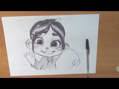 Dibujando a Vanellope VonSchweetz II Rompe Ralph  Carlos Anguis