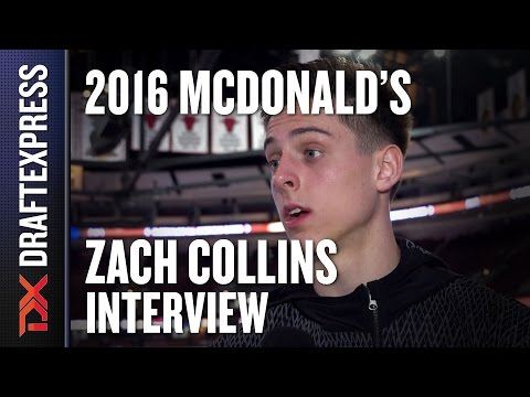 Zach Collins - 2016 McDonald's All American Interview