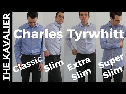 4 Fits Compared - Charles Tyrwhitt Dress Shirts Super Slim to Classic Try-On