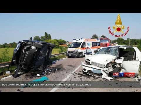 DUE GRAVI INCIDENTI SULLE STRADE PADOVANE: 3 FERITI | 31/07/2020