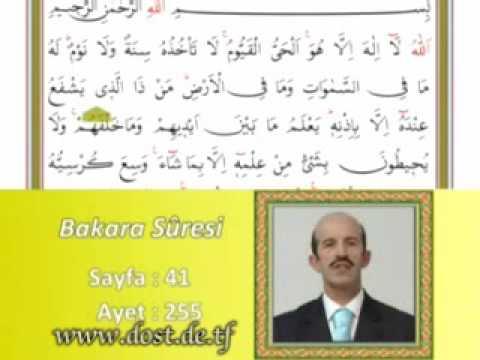 Ayetel Kürsi Bakara 255 Ayeti www.dost.de.tf
