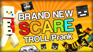 THE NEW 1.8 SCARE TROLL SPOOKY PRANK ON BAKI AND GHOST (Minecraft Trolling and 1.8 Adventure Map)