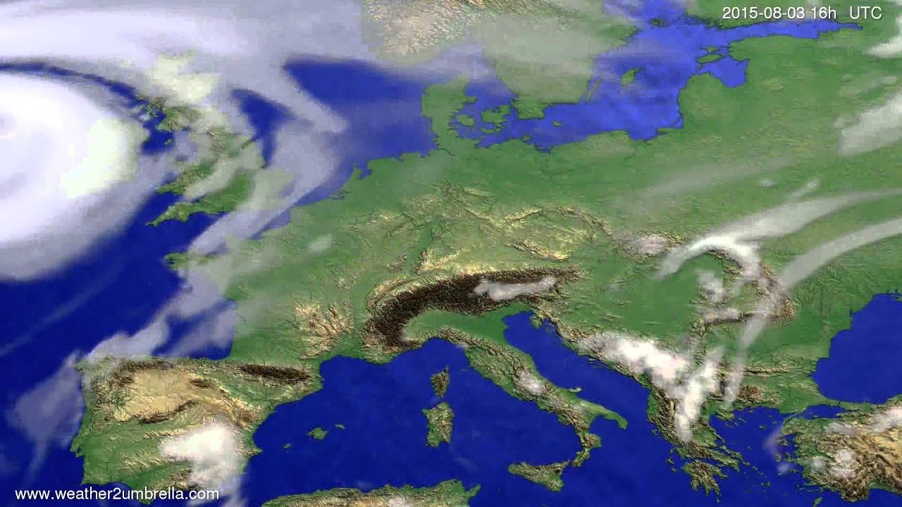 Cloud forecast Europe 2015-07-30