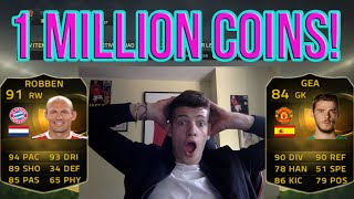 *INSANE PULL* FIFA 15 HUGE 1 MILLION COINS PACK OPENING INFORM ROBBEN HUNT FIFA 15 Live Pack Opening
