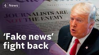 US press unite against Trump 'fake news' attacks